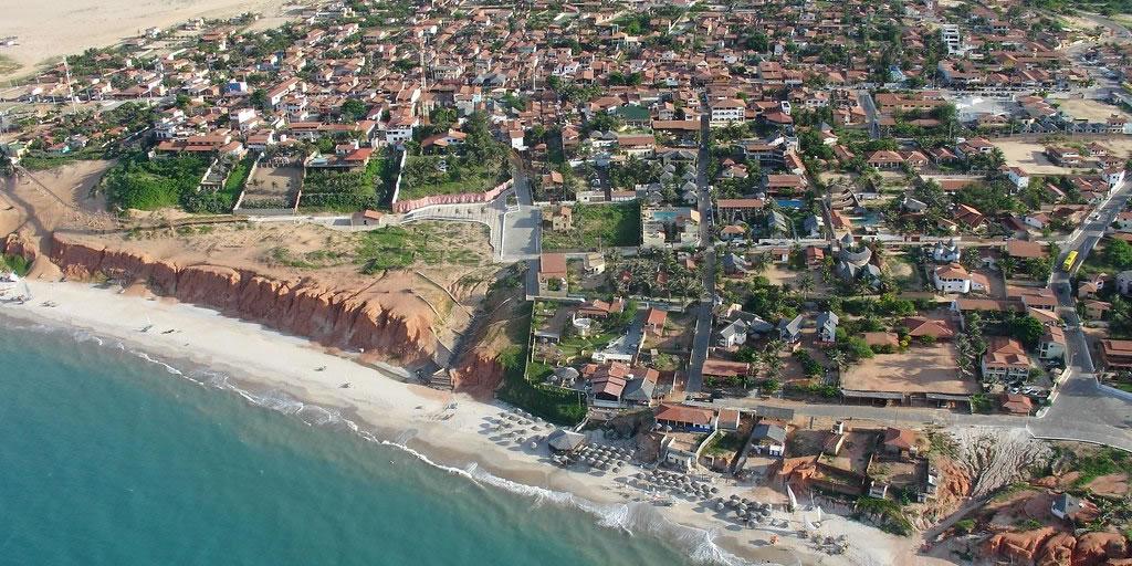 Vista aérea de Canoa Quebrada