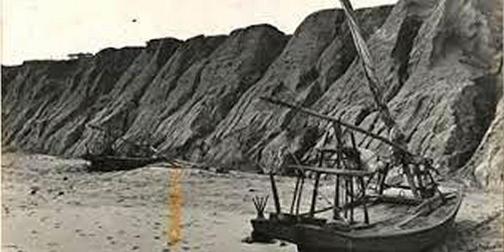 Falesis de canoa quebrada, foto antiga