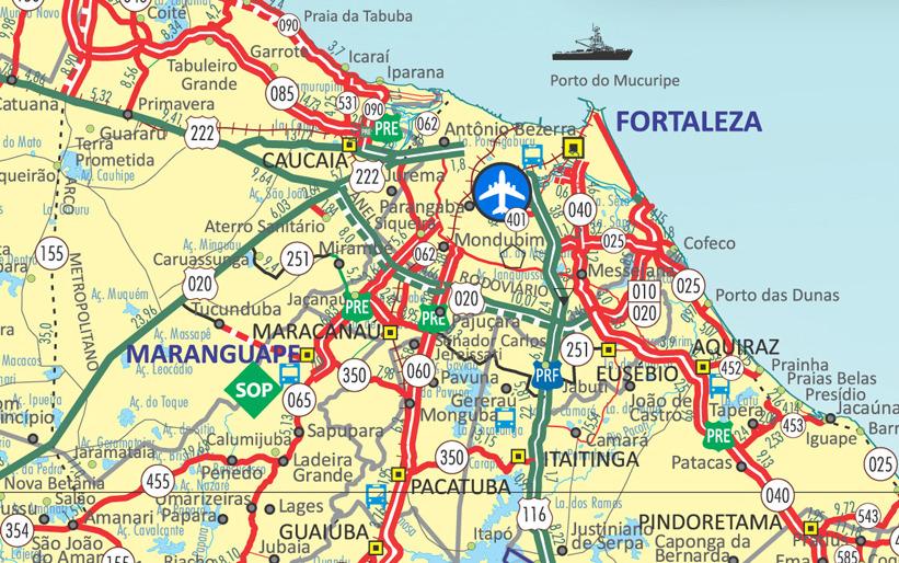mapa rodoviário fortaleza canoa quebrada