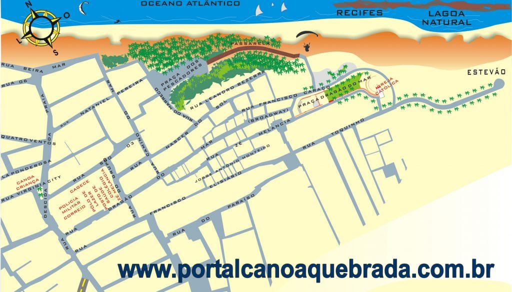 Mapa Canoa Quebrada